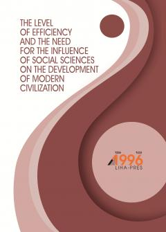 Cover for THE LEVEL OF EFFICIENCY AND THE NEED FOR THE INFLUENCE OF SOCIAL SCIENCES ON THE DEVELOPMENT OF MODERN CIVILIZATION