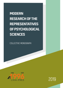 Cover for MODERN RESEARCH OF THE REPRESENTATIVES OF PSYCHOLOGICAL SCIENCES