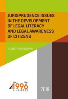 Cover for JURISPRUDENCE ISSUES IN THE DEVELOPMENT OF LEGAL LITERACY AND LEGAL AWARENESS OF CITIZENS